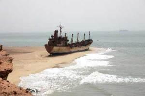 Bangkai kapal di pantai Mauritania
